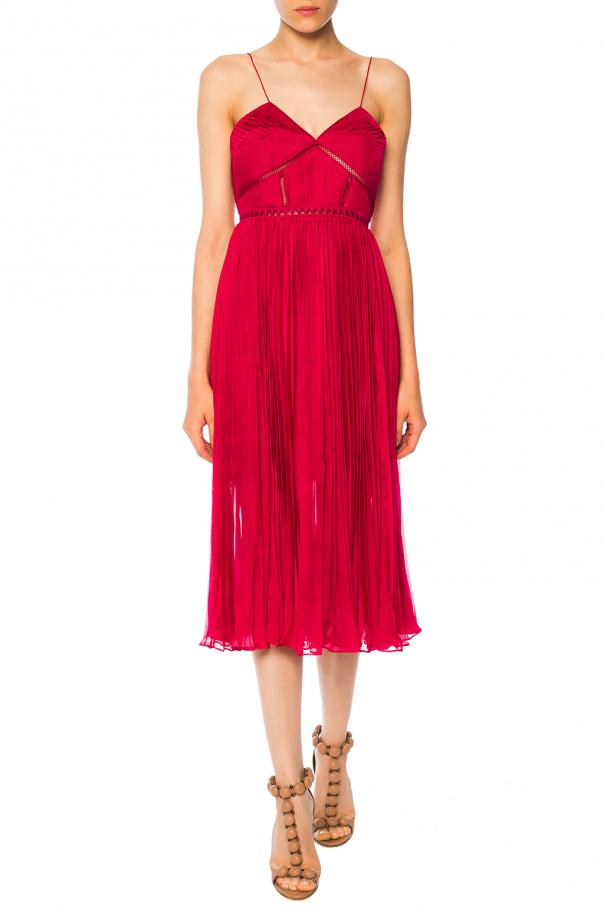 Pleated slip dress od Self Portrait