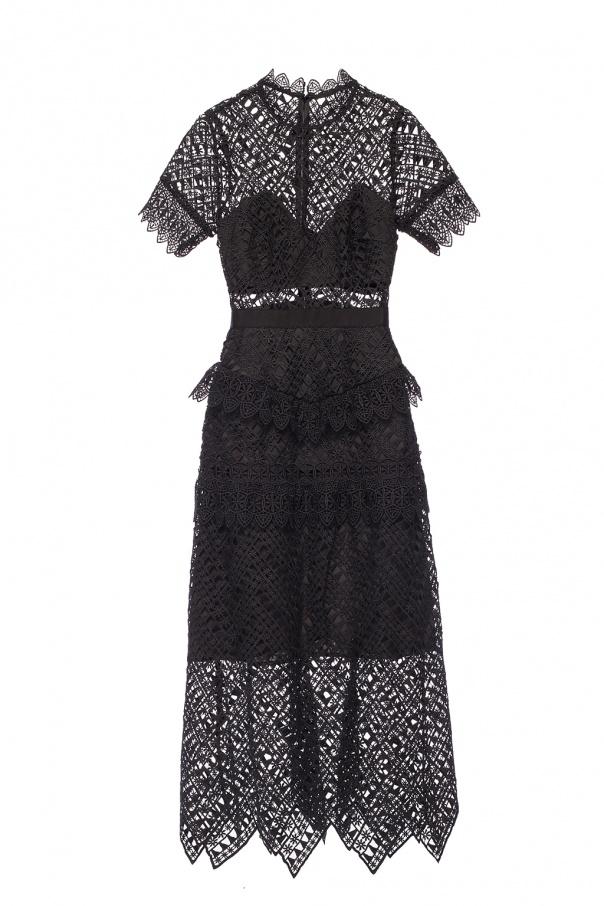 312028995066 Lace-trimmed dress Self Portrait - Vitkac shop online