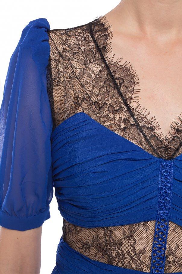 Sukienka z koronkowym wykończeniem od Self Portrait