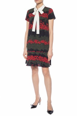 5e918db2a5d Patterned dress with short sleeves od Red Valentino ...