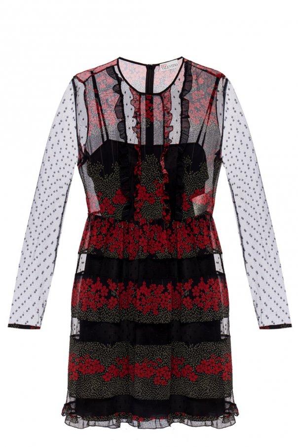 promo code 9e56e 4f549 Floral-printed dress Red Valentino - Vitkac shop online