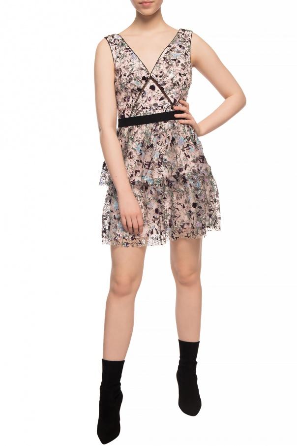 Self Portrait Sukienka na ramiączkach z cekinami xBEcK0EQ