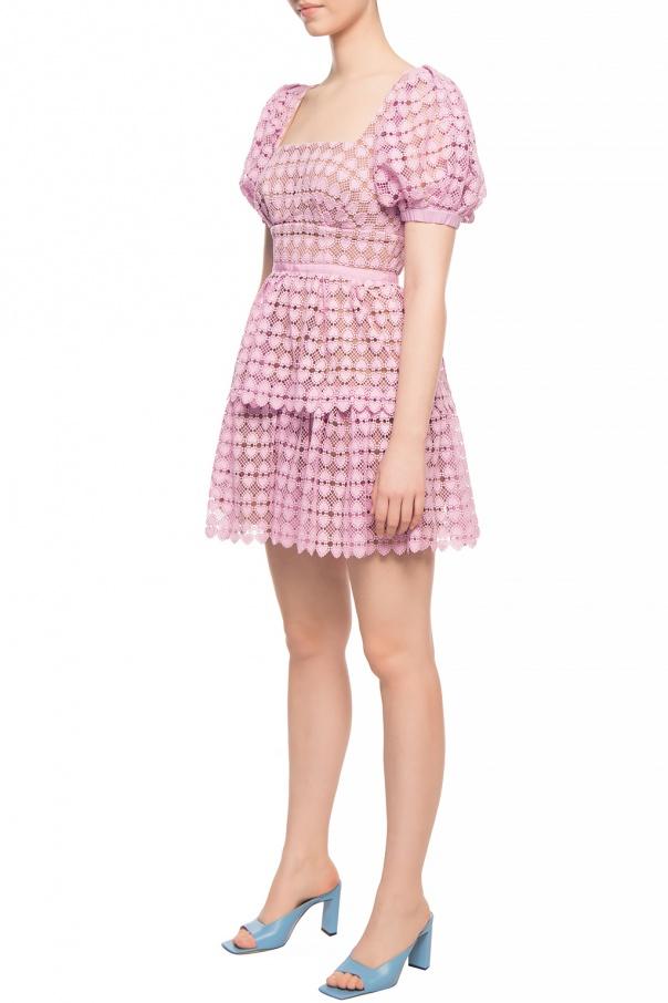 Self Portrait Sukienka z bufiastymi rękawami NI8zyOsv