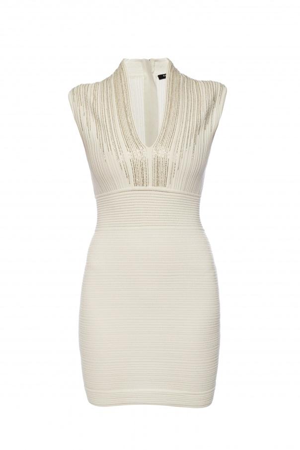 Balmain Dress with deep neckline