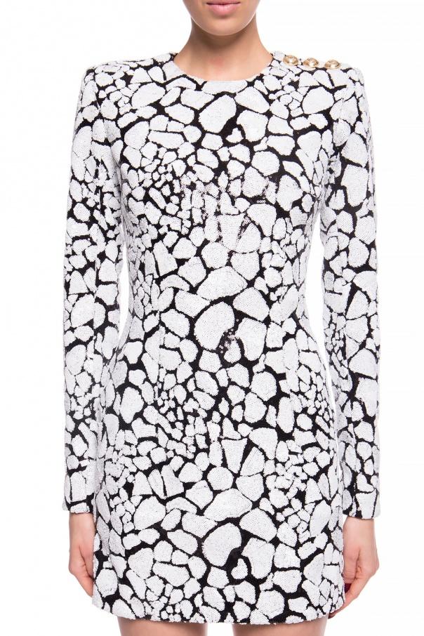 Balmain Sukienka z cekinami 69UbsOYy