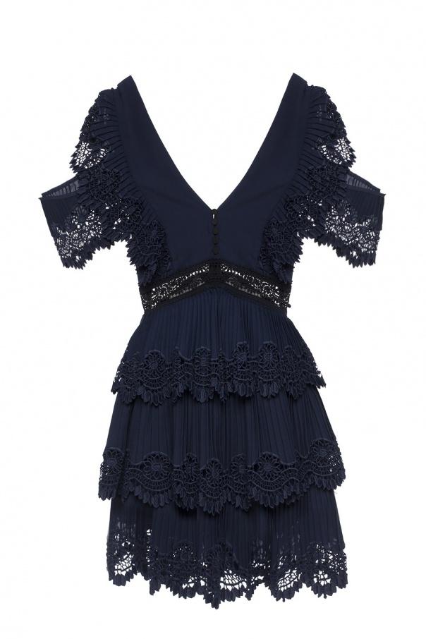 Pleated Lace Dress Self Portrait Vitkac Shop Online