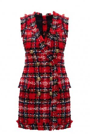 Checked dress od Balmain