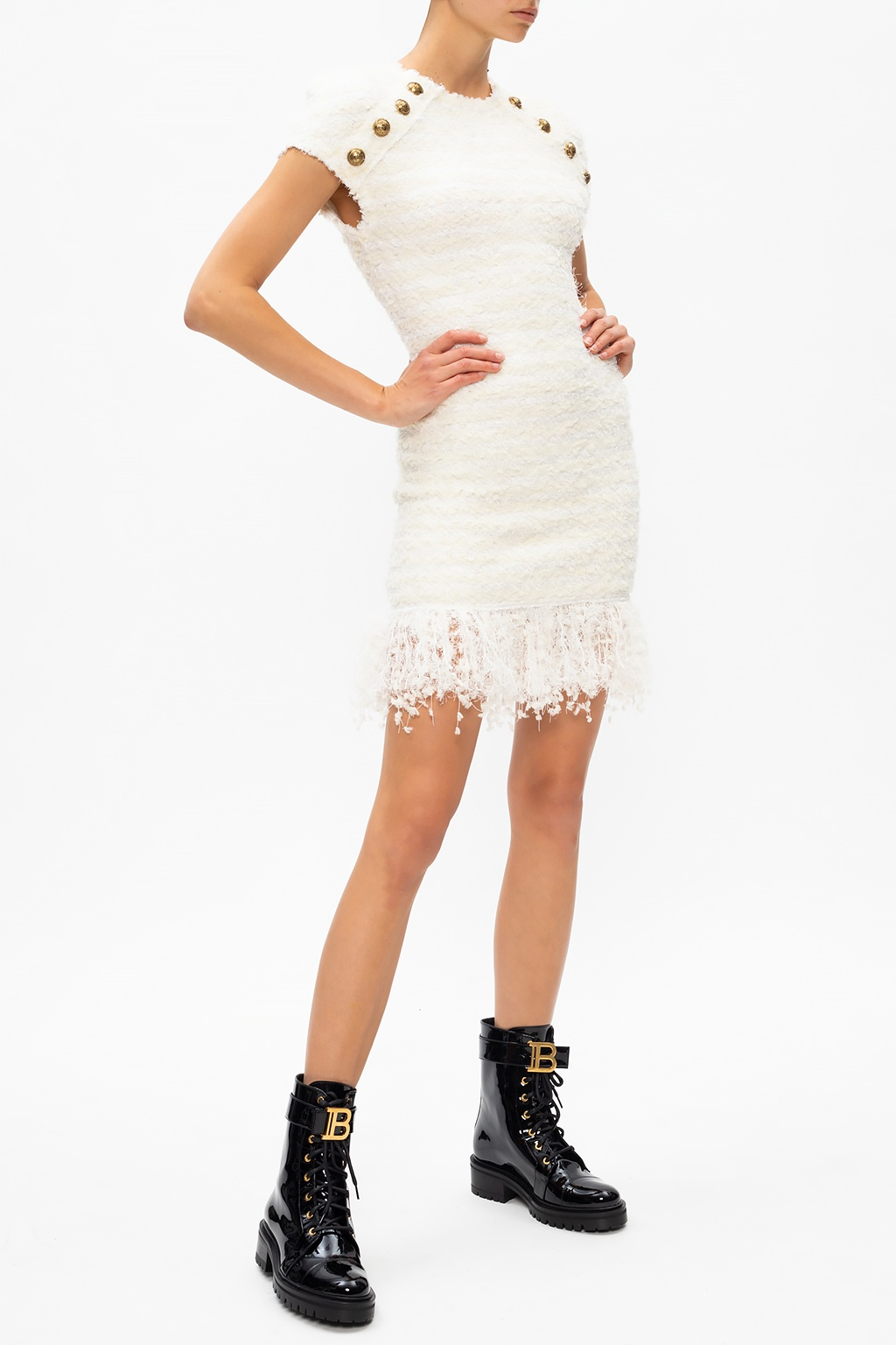 Balmain Fringed dress