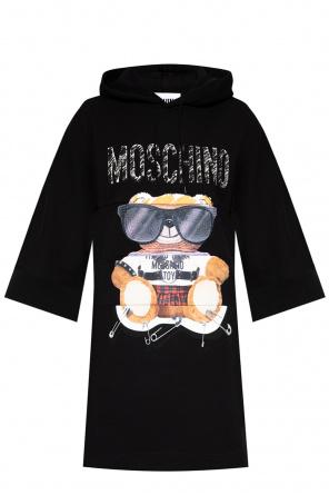 Printed sweatshirt dress od Moschino