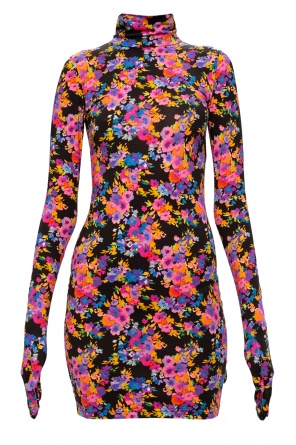 Sukienka z rękawiczkami od Vetements