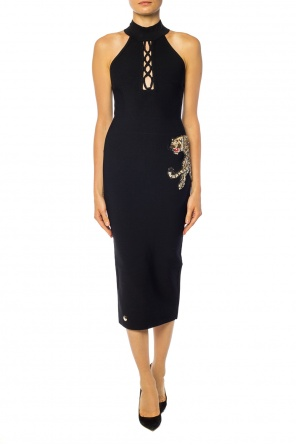 Tiger motif dress od Philipp Plein