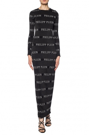 Long dress with logo od Philipp Plein