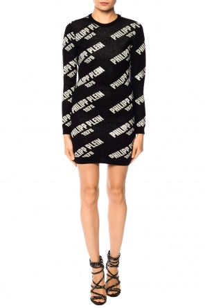 Logo-embroidered dress od Philipp Plein