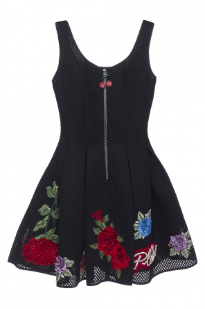 Appliqued flared dress od Philipp Plein