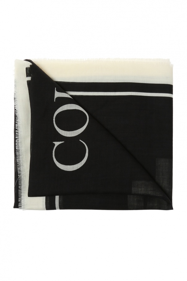 Wool shawl with logo od Moschino
