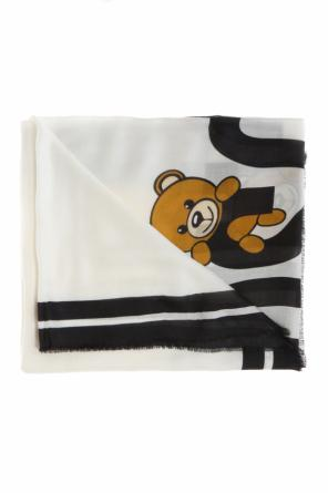 Teddy bear and logo shawl od Moschino