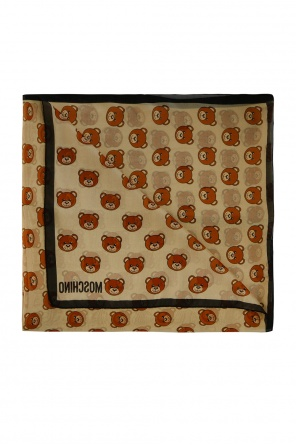 Scarf with teddy bear heads od Moschino