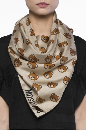 Shawl with teddy bear heads od Moschino