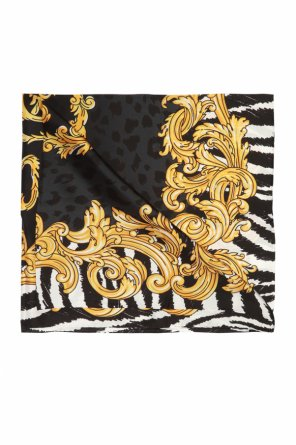 Silk scarf with baroque print od Moschino