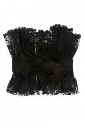 Lace collar with lacing detail od Ann Demeulemeester