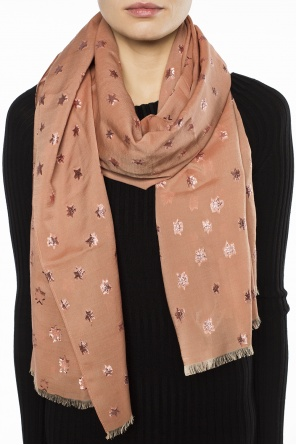 'star' printed scarf od Coach