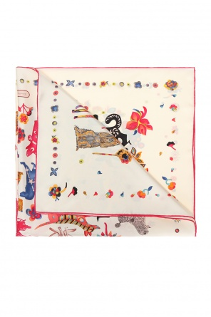 'chinese new year puppies' shawl od Salvatore Ferragamo