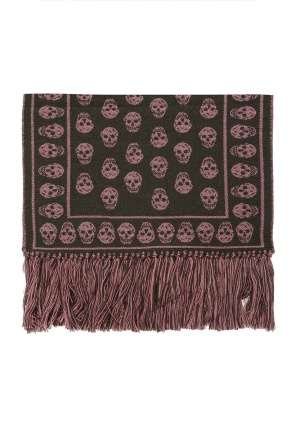 Reversible scarf with skull motif od Alexander McQueen