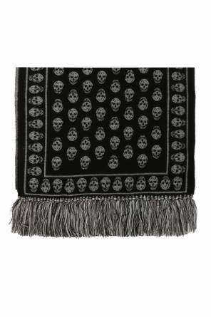 Patterned scarf with a skull motif od Alexander McQueen