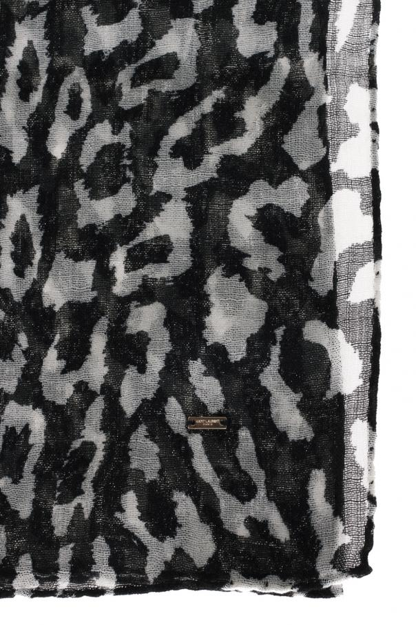 Szalik 'animal print' od Saint Laurent
