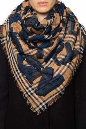 Shawl with a printed logo od Burberry