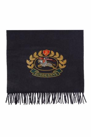 Logo-embroidered scarf od Burberry