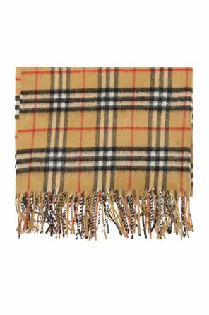 Shawl with a plaid motif od Burberry
