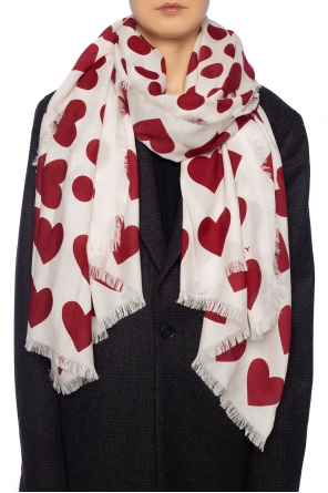 Scarf with hearts od Burberry