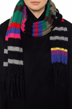 Fringed cashmere scarf od Burberry