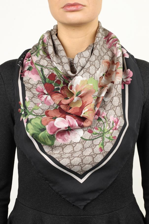 f47ea9222af GG Blooms  Print Silk Scarf Gucci - Vitkac shop online