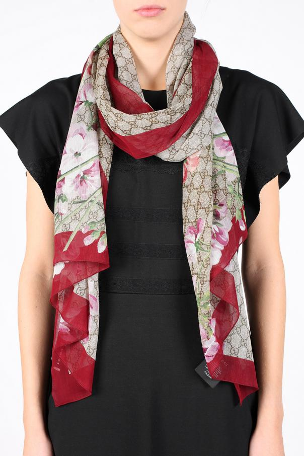 Guccy sequin scarf - Black Gucci