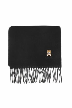 Embroidered teddy bear scarf od Moschino