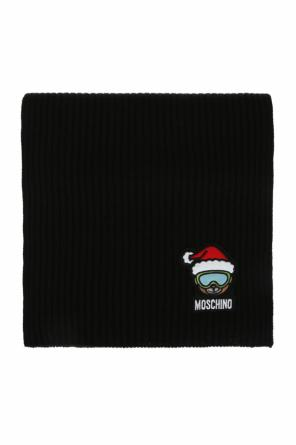 Patched scarf od Moschino