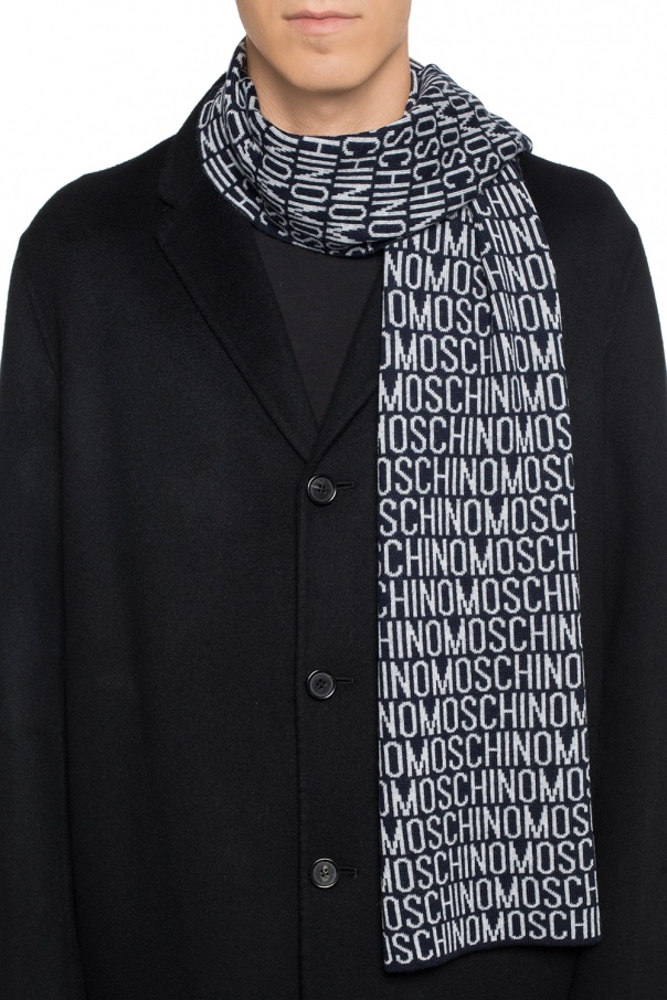 Logo-embroidered scarf od Moschino