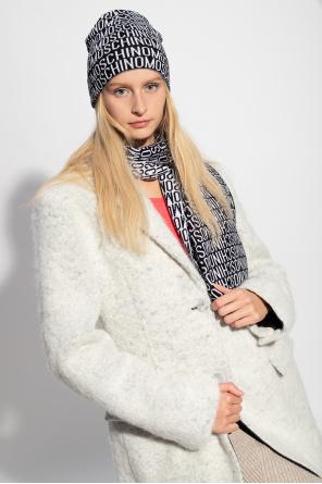 Wool scarf with logo od Moschino