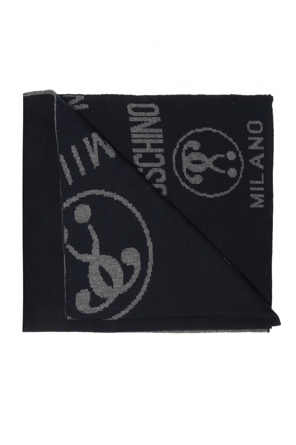Moschino Reversible scarf with logo