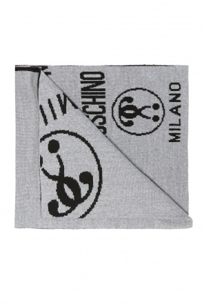 Reversible scarf with logo od Moschino