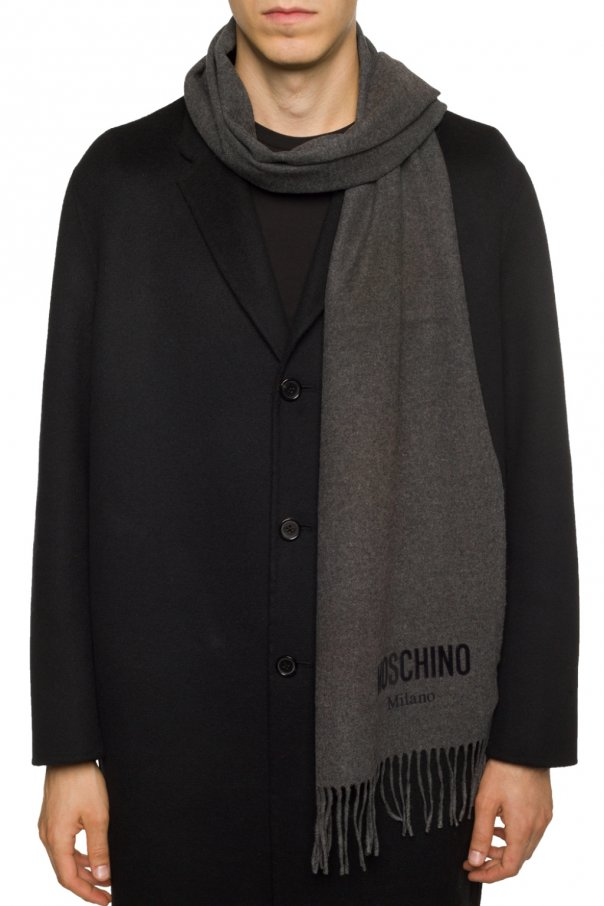 Wool scarf with logo od Moschino