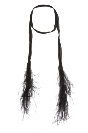 Silk scarf with feathers od Saint Laurent