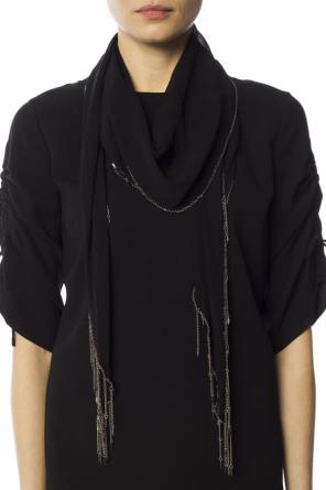 Scarf with short chains od Saint Laurent