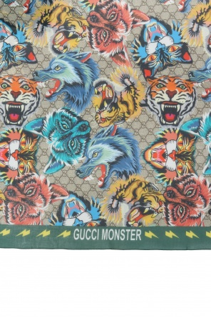 Animalier motif shawl od Gucci Kids