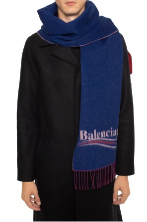 Scarf with embroidered logo od Balenciaga
