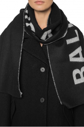 Scarf with an embroidered logo od Balenciaga