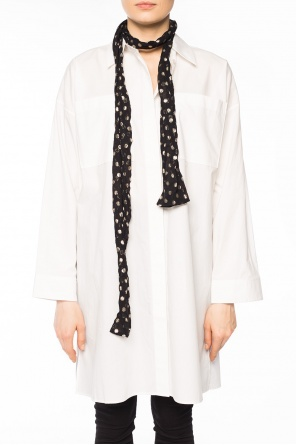 Embroidered polka dot scarf od Saint Laurent