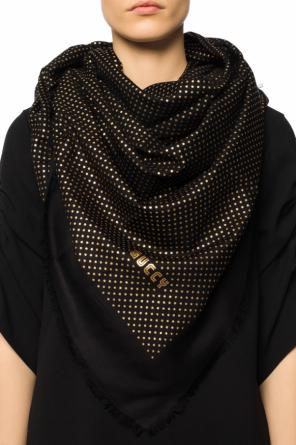 Star-patterned shawl od Gucci